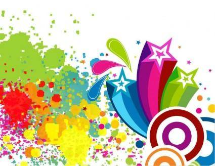 free vector Abscract Colorful Spots Background Vector Art