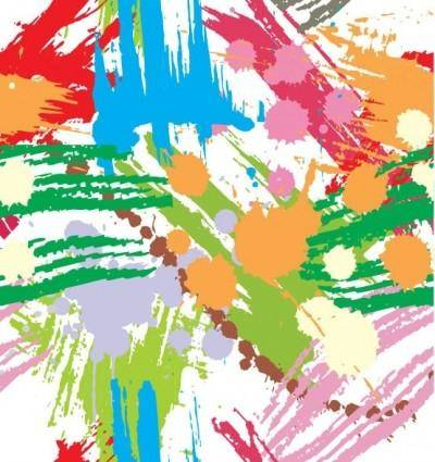 free vector Colourful Paint Blots Seamless Background Vector