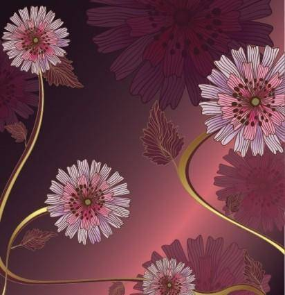 free vector Vintage Flower Vector Background