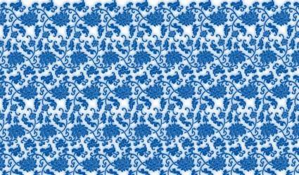 Blue and White Porcelain Seamless Vector Background