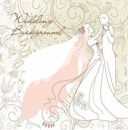 Wedding Background Vector Illustration