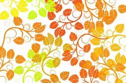 free vector Leaf Background Colorful Vector