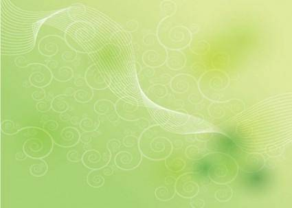free vector Green Shape Background Vector