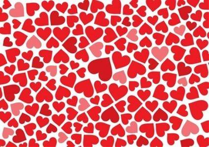 free vector Free Hearts Background Vector