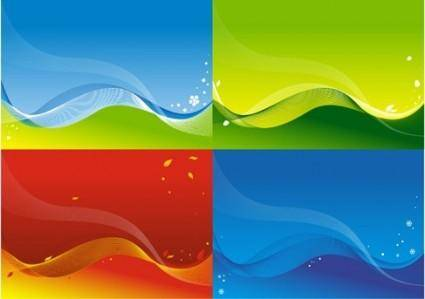 free vector 3 vector colorful backgrounds