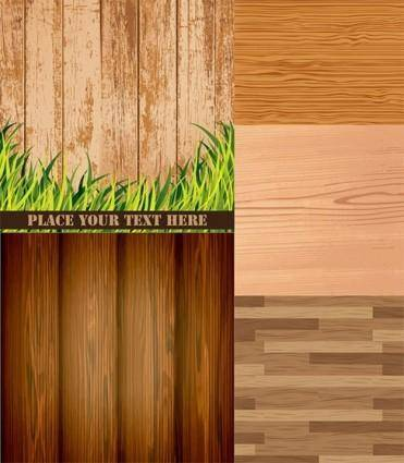 free vector Wood grain background vector material