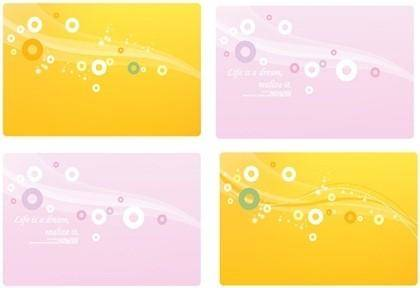 free vector Dream line circle and background material vector