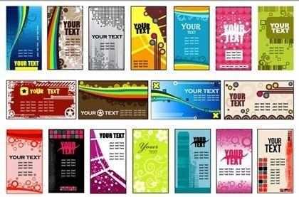 free vector 18 Vector Variety of Practical Card Background Templates
