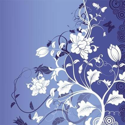 Gorgeous Fashion Flower Background