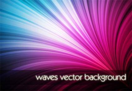 free vector Waves Vector Background