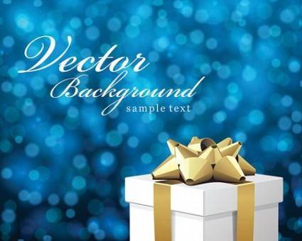 Vector Bokeh Christmas Background