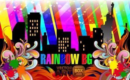 free vector Rainbow Background