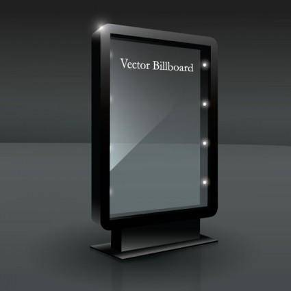 free vector Fine glass advertising boxes 01 vector
