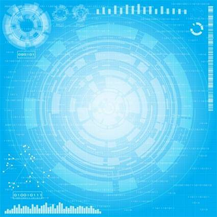 free vector Technology Theme Background Vector