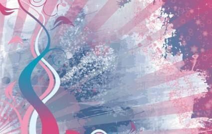 free vector Femenine Grunge Background