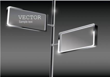 free vector Fine glass advertising boxes 04 vector