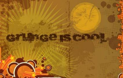free vector Grunge Brown Background