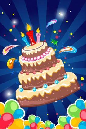 free vector Birthday card background