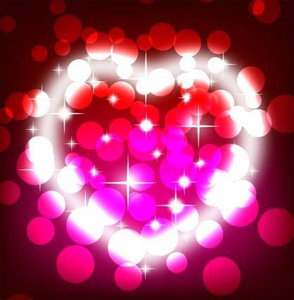 free vector Colorful valentines day background