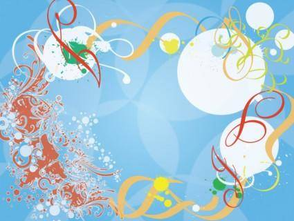 Blue Background Splash Vector Desig