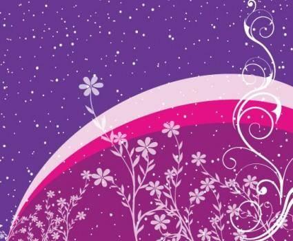 free vector Flower design in PP Blue Background
