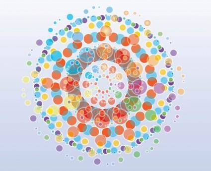 free vector Free Colorful Circles Background