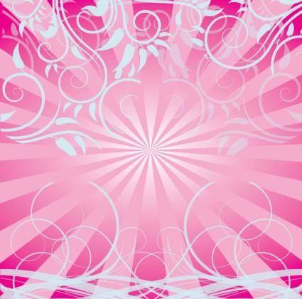 free vector Free Pink Swirls Background
