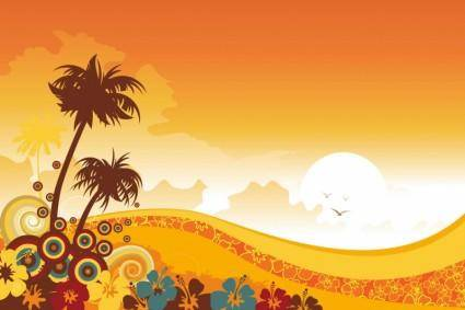 free vector Tropical Background