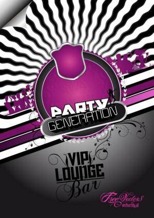 free vector Free Party Flyer Background