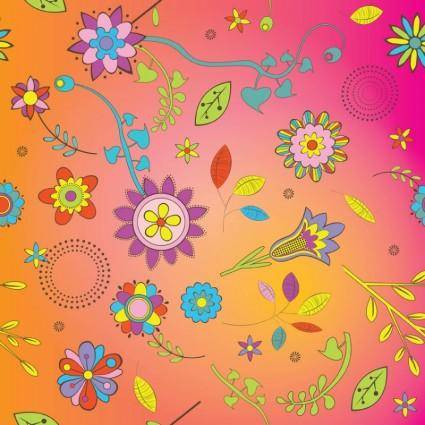 free vector Flowers Background Vector