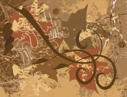 Grunge Doodles Background