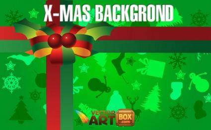 free vector X-mas Background