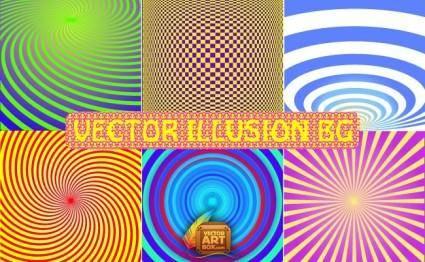 free vector Vector Illusion Backgrounds
