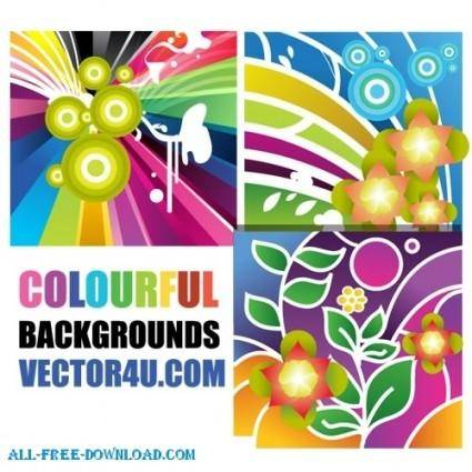 free vector Colourful backgrounds