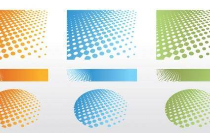 free vector Dotted Background