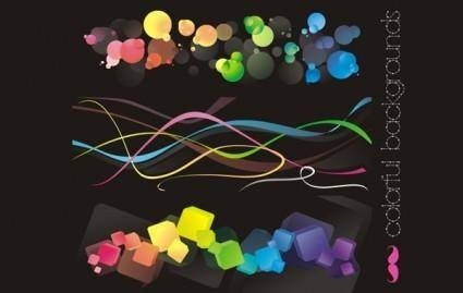 free vector S: Colorful backgrounds