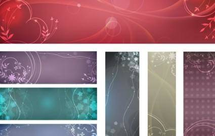 Flowery vector backgrounds