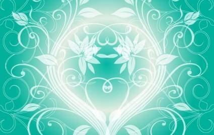 free vector SWIRLY DARK GREEN BACKGROUND