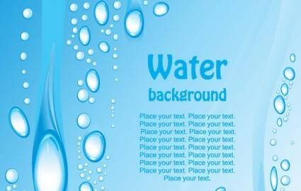 free vector Beautiful blue water background