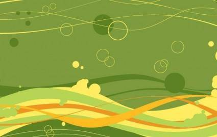 free vector FREE VECTOR WAVES AND BUBBLES BACKGROUND