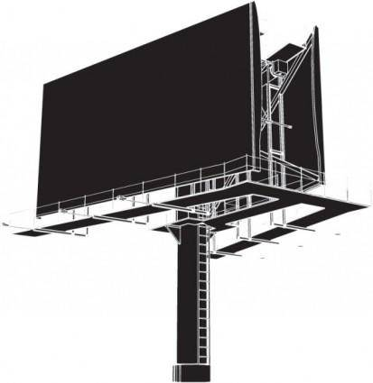 free vector Large outdoor billboards blank vector