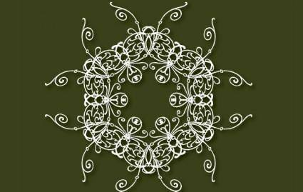 Decorative free vector on the green background