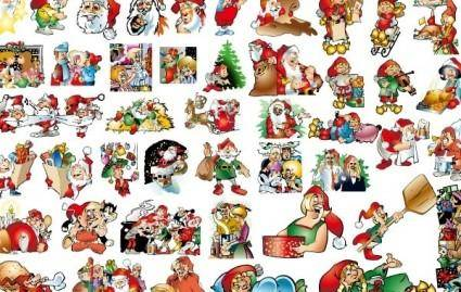 free vector 46 lovely Christmas vector illustration background material