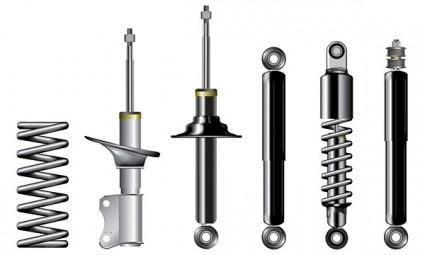Vector metal parts accessories