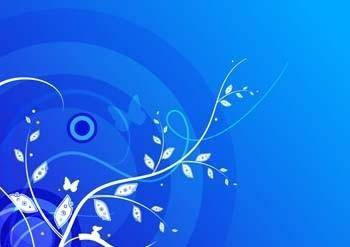 free vector Blue leaf and butterfly background vector design adobe illustrator ai