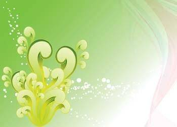 Green swirly vector background, swirl vector tutorial