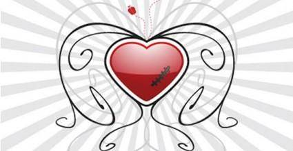 free vector Valentines heart background vector