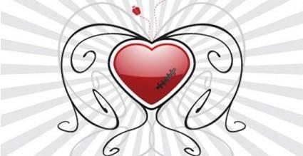 Valentines heart background vector