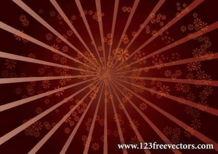 free vector Star Burst Flower Background