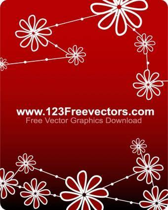 free vector Free Vector Flower Background